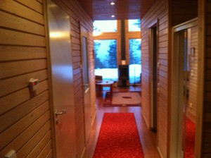 The lodging was quite nice.  I loved the Finnish design.